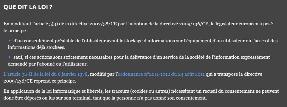 mentions légales sur l'utilisations des cookies sur BlogOmallin.fr