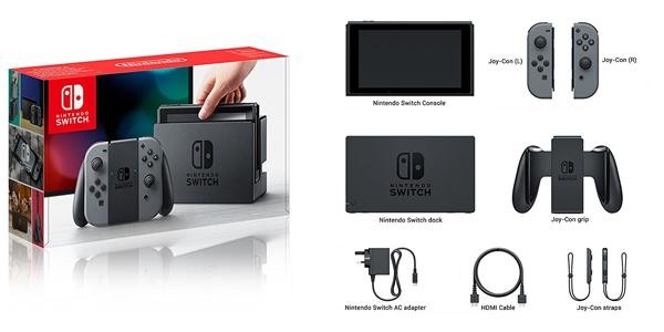 Contenu du coffret Nintendo switch