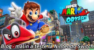 J'ai testé super Mario odyssée sur switch