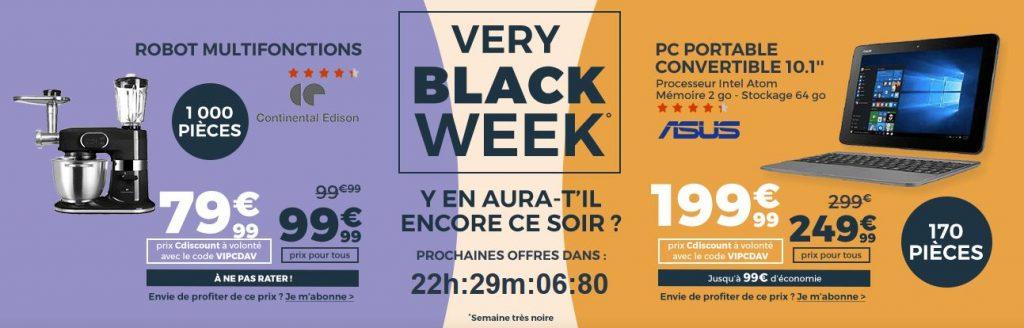 black friday en very black week chez cdiscount