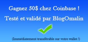 Gagnez 50$ avec Coinbase